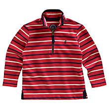 Buy Little Joule Boys' Dale Stripe Sweatshirt, Red/Multi Online at johnlewis.com