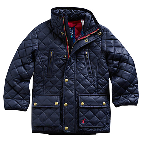 Buy Little Joule Boys' Junior Foxton Jacket, Blue Online at johnlewis.com
