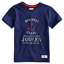 Buy Little Joule Seamus Anchor Mariners T-Shirt, Navy Online at johnlewis.com