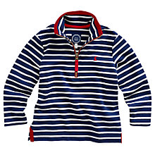 Buy Little Joule Boys' Dale Stripe Sweatshirt, Navy/Cream Online at johnlewis.com