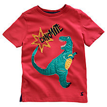 Buy Little Joule Boys' Archie Dinomite T-Shirt, Red Online at johnlewis.com