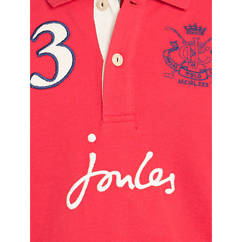 Buy Little Joule Boys' Harry Polo Shirt, Red Online at johnlewis.com