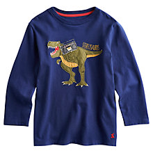 Buy Little Joule Boys' Stereosaurus T-Shirt, Navy Online at johnlewis.com