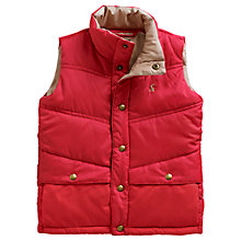 Buy Little Joule Boys' Burt Quilted Gilet, Red Online at johnlewis.com