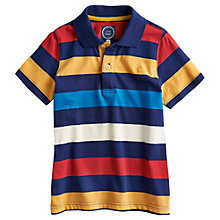 Buy Little Joule Boys' Junior Tom Stripe Polo Shirt, Blue/Multi Online at johnlewis.com