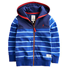 Buy Little Joule Boys' Jenson Hoodie, Blue Online at johnlewis.com