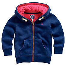 Buy Little Joule Boys' Aireborough Navy Hoodie, Navy Online at johnlewis.com