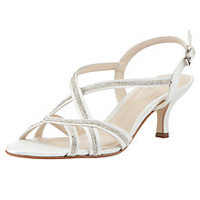 Buy John Lewis Occasion Glamour Sparkle Kitten Heel Sandals Online at johnlewis.com