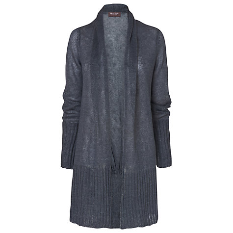Buy Phase Eight Leona Washed Linen Cardigan, Slate Blue Online at johnlewis.com