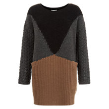 Buy Hobbs Teresa Jumper, Taupe/Multi Online at johnlewis.com