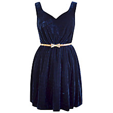 Buy Paisie Velvet Dress, Navy Online at johnlewis.com