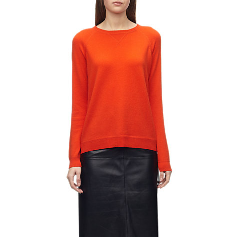 Buy Whistles Maggie Cashmere Sweatshirt, Red Online at johnlewis.com