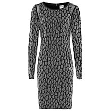 Buy Reiss Jacquard Bodycon Dress, Black Online at johnlewis.com