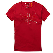 Buy Pepe Jeans Allen Union Jack T-Shirt Online at johnlewis.com