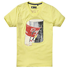 Buy Pepe Jeans Campbell Soup Can Graphic T-Shirt, Summer Yellow Online at johnlewis.com