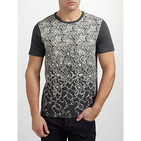 Buy Pretty Green Paisley Faded T-Shirt Online at johnlewis.com