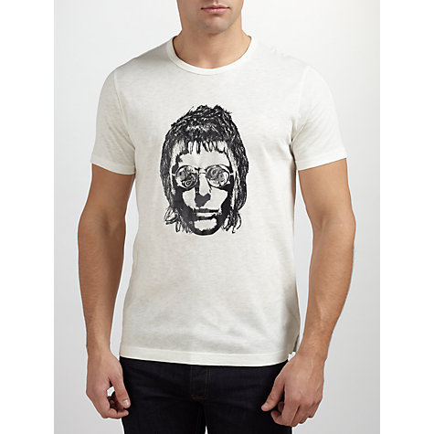 Buy Pretty Green Liam Gallagher T-Shirt, Grey Marl Online at johnlewis.com