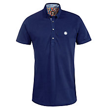 Buy Pretty Green Talford Polo Shirt, Blue Online at johnlewis.com