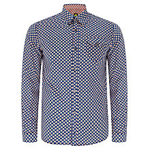 Buy Pretty Green Griffin Long Sleeve Shirt, Blue Online at johnlewis.com