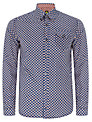 Pretty Green Griffin Long Sleeve Shirt, Blue