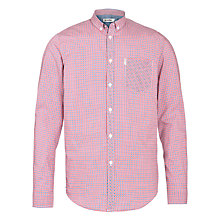 Buy Ben Sherman Check Long Sleeve Shirt, Red Online at johnlewis.com