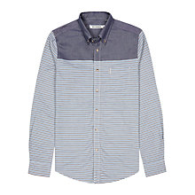 Buy Ben Sherman Horizontal Stripe Cotton Shirt, Staple Navy Online at johnlewis.com