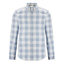 Buy Ben Sherman Twisted Gingham Shirt, Wash Blue Online at johnlewis.com