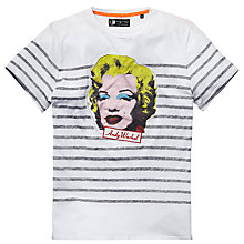 Buy Pepe Jeans Arty Marilyn Monroe Print T-Shirt, Factory Online at johnlewis.com