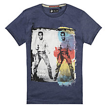 Buy Pepe Jeans Elvis Print T-Shirt, Indigo Online at johnlewis.com