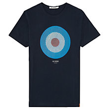 Buy Ben Sherman Patchwork New Target T-Shirt, Navy Online at johnlewis.com