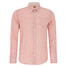 Buy Pretty Green Raven Geo Print Shirt, Red Online at johnlewis.com