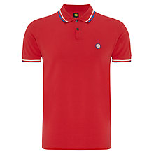 Buy Pretty Green Tipped Pique Short Sleeve Polo Shirt Online at johnlewis.com