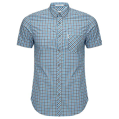 Buy Ben Sherman Classic Check Slim Fit Shirt, Porcelain Blue Online at johnlewis.com
