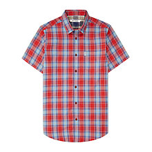 Buy Ben Sherman Marl Tartan Short Sleeve Shirt, Cranberry Online at johnlewis.com