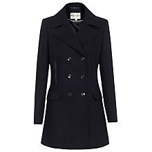 Buy Reiss Charise Double Breasted Coat, Navy Online at johnlewis.com