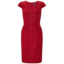 Buy Adrianna Papell Seamed Sheath Dress, Garnet Online at johnlewis.com