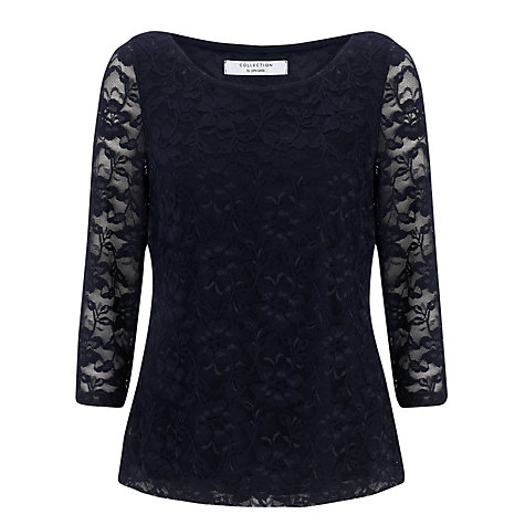 Buy COLLECTION BY John Lewis Clarissa Lace Top, Navy Online at johnlewis.com