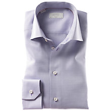 Buy Eton Dobby Long Sleeve Shirt, Purple Online at johnlewis.com