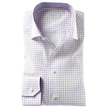 Buy Eton Check Long Sleeve Shirt, Purple/White Online at johnlewis.com
