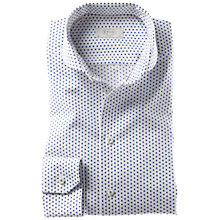 Buy Eton Dot Print Long Sleeve Shirt, Blue/White Online at johnlewis.com