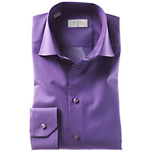 Buy Eton Plain Satin Long Sleeve Shirt, Purple Online at johnlewis.com