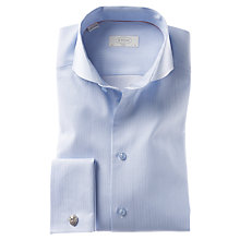 Buy Eton Thin Stripe Long Sleeve Shirt, Blue Online at johnlewis.com