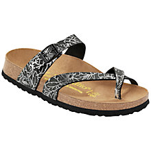 Buy Birkenstock Tabora Sandals, Black / Silver Online at johnlewis.com