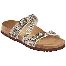 Buy Birkenstock Salina Sandals, Brown Online at johnlewis.com
