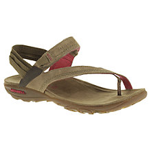 Buy Merrell Mimosa Clove Sandals, Brown Online at johnlewis.com