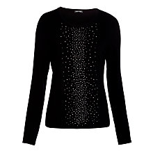 Buy Gerry Weber Placement Studded Jumper, Marine Online at johnlewis.com