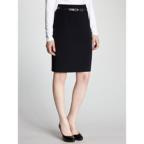 Buy Gerry Weber Ribbed Pencil Skirt, Marine Online at johnlewis.com