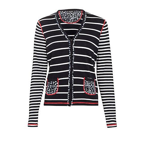 Buy Gerry Weber Spot Stripe Cardigan, Navy/White Online at johnlewis.com