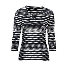 Buy Gerry Weber Wave Stripe Jersey Top, Navy/White Online at johnlewis.com