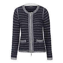 Buy Gerry Weber Boucle Zip Jacket, Marine Online at johnlewis.com